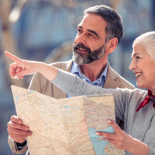 Reiseleitung auf der Kundenreise